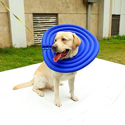 tz Recovery Halsband bissfest/anti-licking Wasserabweisendes Nylon Stoff Hohl EPE Schaumstoff Cone für Hunde und Katzen (Schaum Halloween-masken)