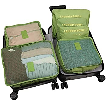 9ff817c49682 WOWTOY 6PCS Packing Cubes Value Set for Travel Luggage Organiser Bag ...