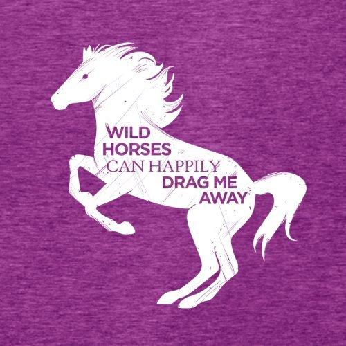 Wildes Pferd - Damen T-Shirt - 14 Farben Beere