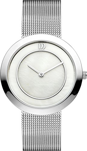 Danish Design Women's Quartz Watch with Mother of Pearl Dial Analogue Display and Silver Stainless Steel Strap DZ120224