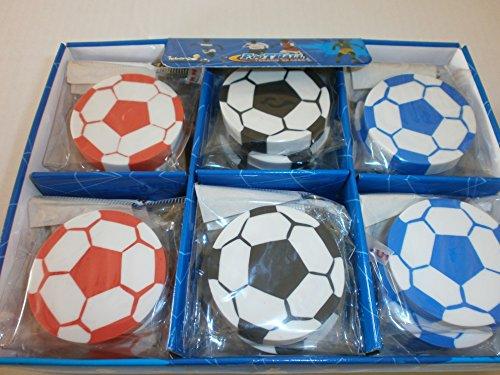 6 Radiergummi Fußball Eraser Mitgebsel Kindergeburtstag