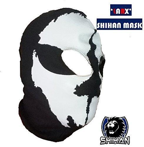 'larx' 2agujeros, Lana zorro disfraz de ninja, 1Talla Adulto, cráneo de pasamontañas Ghost máscara para la cara bicicleta motocicleta casco Sport de esquí capucha cuello máscara de Halloween Horror