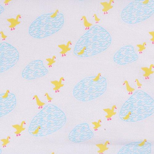 Piccalilly Bio-Baumwolle Gelb und Blau Unisex Puddle Ente Druck Musselin Puck Tüch