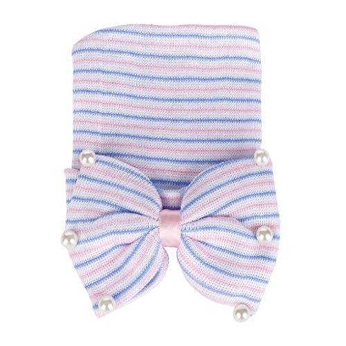 Lazzboy Baby Bearl Perlen Bogen-Knoten Gestrickte Saum Beanie Hat Cap Stirnbänder Mädchen Neugeborenen Haarband Stirnband Weich Kopfband Schmuck Babyschmuck Babygeschenke & Taufe(A)