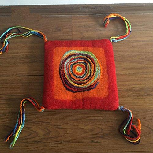 Futon Stuhl-pads Farbe-sofa-matte Nationaler stil Tatami-kissen Sitzabdeckung Gemütliche-Rot 40x40cm(16x16inch)