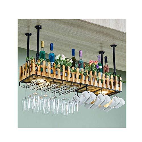 JXS- wine rack Metall hängen Metall Weinregal, Lagerung Weinglas Champagner, Decke hängen...