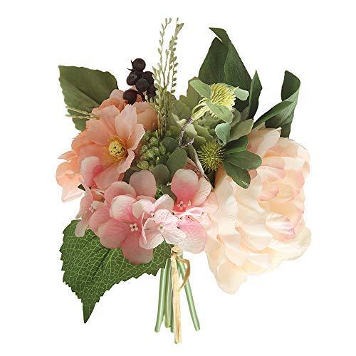 Lazzboy Unechte Blumen,Künstliche Deko Blumen Gefälschte Blumen Blumenstrauß Seide Wirkliches Berührungsgefühlen, Braut Hochzeitsblumenstrauß für Haus Garten Party Blumenschmuck #15(B)