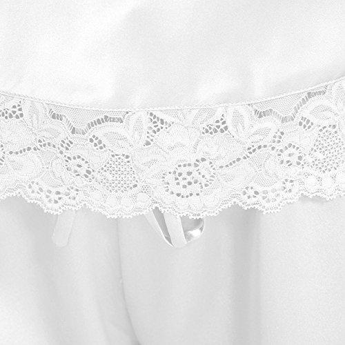 LILYSILK Pyjashort Soie de Mûrier 2 Pièces Femme Caraco & Short Dentelle 22 Momme Blanc