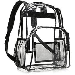 AmazonBasics - Mochila escolar - Transparente