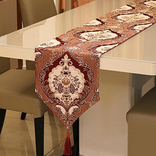 (GAOJUAN Tabelle Flagge Geprägte Stoff Continental Western Tisch Flagge Tischset Möbel Dekoration Weiche Stoffe Delicate Cutwork (Größe: 32 * 210 cm),32 * 180Cm)