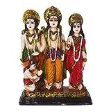 Ram Darbar / Lord Rama ,Sita, Laxman and Hanuman Idol God Statue(H-10 CM)