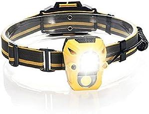 UDee Cree Led Headlamp Multi-function Sensor Headlight XPE + Cob Portable 3w