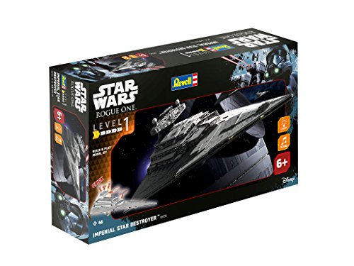 Star-Wars-Rogue-Uno--Imperial-Star-Destroyer-Revell-construir-y-jugar-Kit-Asamblea-Modelo-blanco