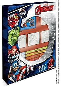 MULTIPRINT Avengers - Juegos de Sellos para niños, Caucho, Madera, 3 año(s), Italia, 190 mm, 36 mm