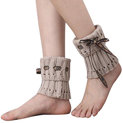 Vidlan Damen Böhmen kurzer Punkt Beinlinge Socken Stiefel Abdeckung (A) (Kinder-schuhe Kabel-stricken)