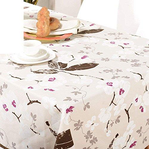 DEED Tischdecke-Kontinentales Wasserdichtes ölbeständiges und Bügelndes Gewebe-Tischdecke-Einfaches Tischtuch,A, 145x220cm (57x87inch)