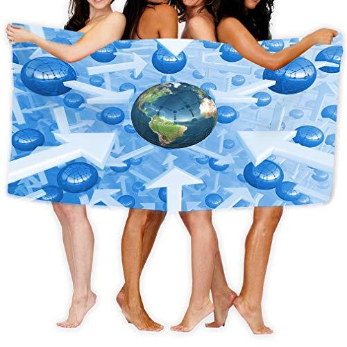 zexuandiy Bath Towel Adult Microfiber Towel 31 X 51 Inch Bath Sheet Fantasy digital Universe Planet Earth Centre Conceptual Science d Halftone