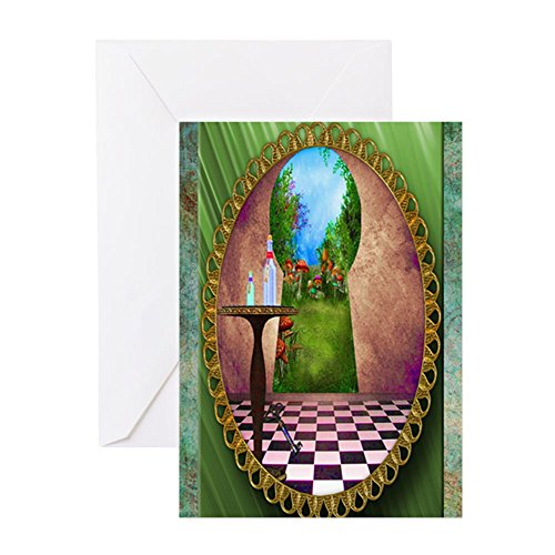CafePress–Durch der Schlüssel Loch–Grußkarte, Note Karte, Geburtstagskarte, innen blanko, glänzend (Alice Schlüsselloch)