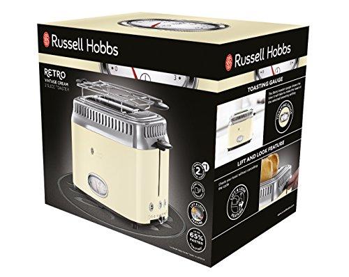 Russell Hobbs 21682-56 Retro Vintage Cream Toaster mit stylischer Countdown-Anzeige - 2
