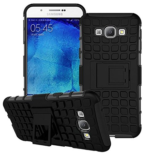 Samsung Galaxy A8 - Stylish Heavy Duty Hard Back Armor Shock Proof Case Cover with Back Stand Feature by Accessories Collection  available at amazon for Rs.199