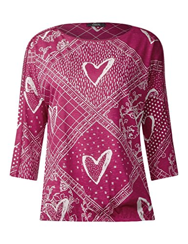 Cecil Damen Langarmshirt Mehrfarbig (Magic Pink 21277)