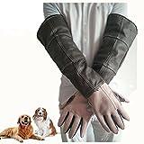 Mascota Guantes Anti-Mordientes Anti-Rasguños Anti-Pinchazo Impermeable Resistencia A La Rotura Perros De Entrenamiento La Tienda De Animales Zoo Veterinario Bañarse Manicura Cuero 60Cm,S