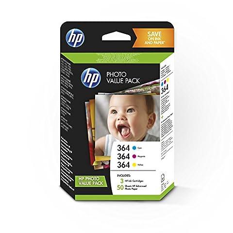 HP 364 Series Photo Value Pack-50 sht/10 x 15 cm