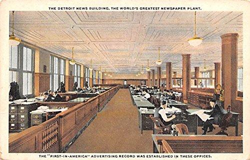 Publications Advertising Old Vintage Antique Post Card Detroit News Building Detroit, michigan USA Unused (News Detroit)