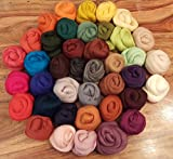 Filzwolle - 40 verschiedene Farben je 20 Gramm - zum Trockenfilzen und Nassfilzen, ca. 800gr. Märchenwolle -