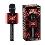 The X Factor TY6013 Karaoke Microphone Speaker with Wireless Bluetooth, LED Lights, Echo and Voice Changer for Kids and Adults, XF2, Black