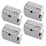 Uoopo 4x Kompatibel Schriftband Brother M-K231 MK231 M-231 M-K231BZ 12mm x 8m Schwarz auf Weiß für Brother P-touch PT-55 PT-60 PT-65 PT-75 PT-80 PT-85 PT-90 PT-110 PT-BB4 Beschriftungsgerät