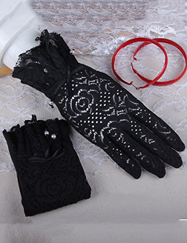 Women Lace Summer Sun Gloves Driving Thin Section Of Spring Anti-UV Anti-skid Gloves ( Couleur : 7 ) 1