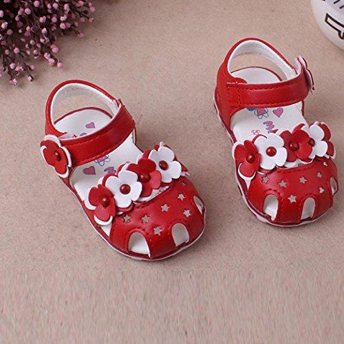 Igemy rutsch Sole Anti Paar Kleinkind Schuhe 1 Baby Soft Blumen Sneaker Casual Rot Sandalen qrxq8zwTP