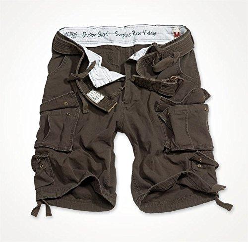Trooper Division Shorts, braun, Größe XXL (Shirt Braun Bdu)