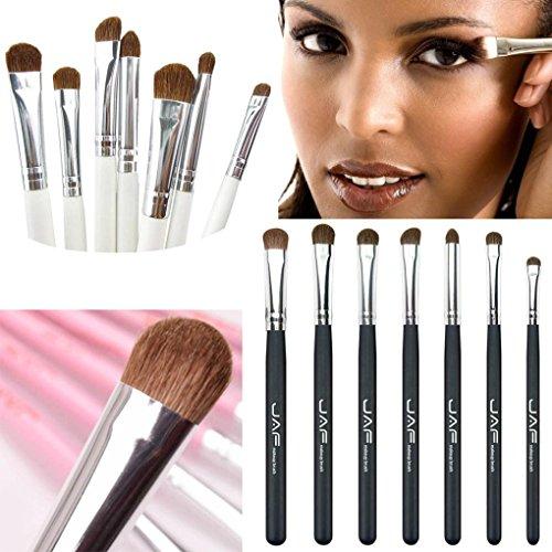 ESAILQ Kit de Pinceau maquillage Professionnel 7 PCS Ombre à Paupière Brosse Cosmétiques Blending outil Pinceau (Blanc)