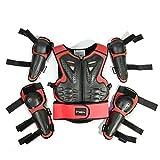 RONSHIN Automotive - Juego de 5 Protectores de Moto, para niños, para Deportes de Cuerpo Completo, para Pecho, Rodilleras, Codos, para niños de 5 a 13 años de Edad