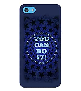 Fuson Premium You Can Do It Printed Hard Plastic Back Case Cover for Apple iPod Touch 6