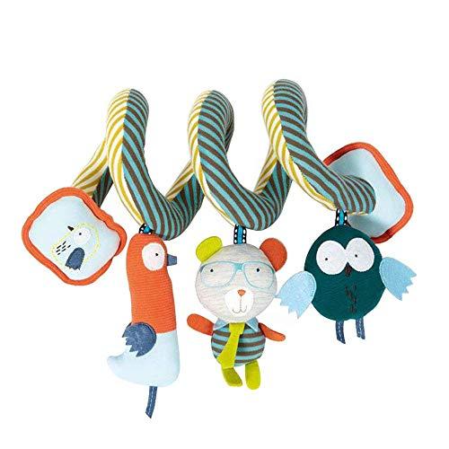 FONGFONG 1 Satz Baby Pram Spirale Rassel Spielzeug Kinderwagen Krippe Hängendes Spielzeug Niedlichen Tier Bär Handglocken Entwicklungsspielzeug für Neugeborenes Baby Kleinkind