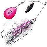 Savage Gear Bush Spinnerbait, Spinnköder zum Spinnfischen auf Hecht & Barsch, Hechtköder, Spinner Bait zum Hechtangeln, Farbe:Pink Flash, Größe/Gewicht:16cm/32g