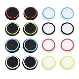 Cubierta Protectora de Apretones de Pulgar de Silicona para PS4, Xbox 360, PS3 Controladores, 8 Pares, Colores Mezclados