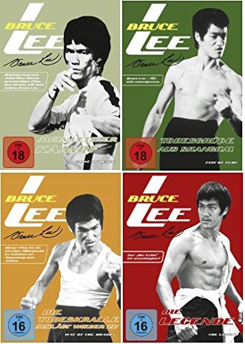 Preisvergleich Produktbild Bruce Lee 4 DVD Set Die Todeskralle schlägt wieder zu,  Todesgrüße aus Shanghai,  mein letzter Kampf & Die Legende,  dvds,  KEINE BOX
