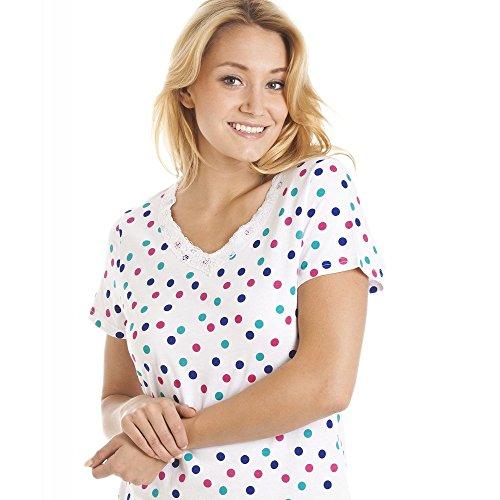 Camicia da notte a pois multicolorata - bianco Bianco