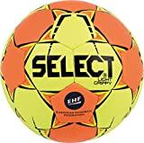 SELECT Light Grippy Ballon de Handball, Jaune/Orange, Taille 0