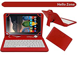 """Hello Zone Exclusive 7"""" Inch USB Keyboard Tablet Case Cover Book Cover for DOMO SLATE X14 -Red"""