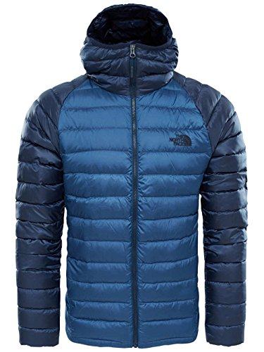 The North Face M Trevail Hoodie Chaqueta, Hombre, Azul (Shady Blue/Urban Navy), 2XL