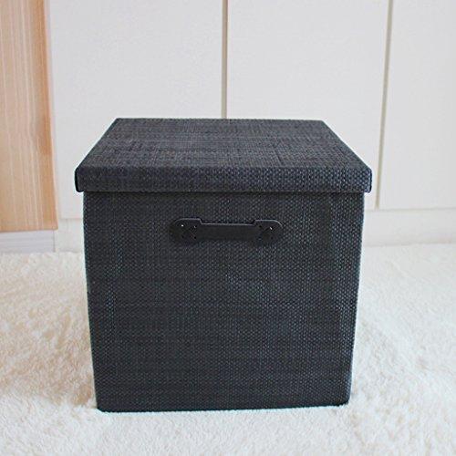 KKY-ENTER Square Shape Falten Aufbewahrungsbox Kleider Aufbewahrungsbox Kleider Finishing Box Schublade Typ Aufbewahrungsbox Große Kapazität Aufbewahrungsbox, 35 * 35 * 35cm ( Farbe : D ) (Square D-box)