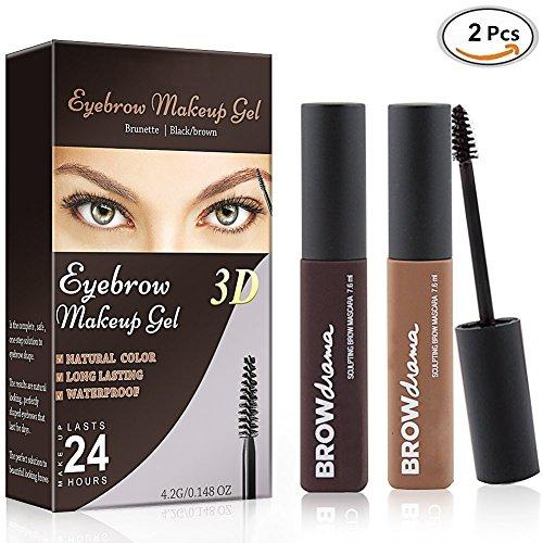 Augenbrauen Creme,Augenbrauen Gel Eye Brow Gel, 2 Stück Perfekte Wasserdichte Augenbrauen,Eyebrow...