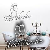 Wandkings Wandtattoo'Tratschecke (mit 2 Sektgläsern)' 120 x 85 cm gold - erhältlich in 33 Farben