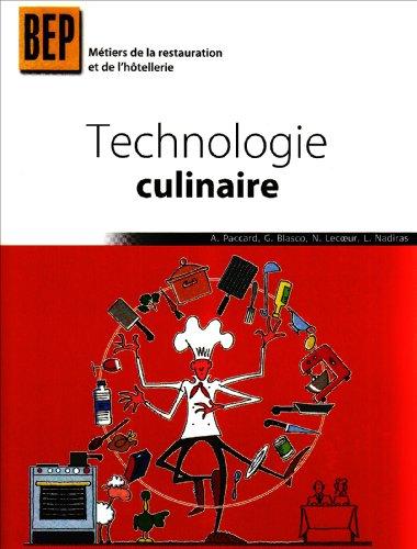 Technologie culinaire BEP Métiers de la restauration et de l'hôtellerie