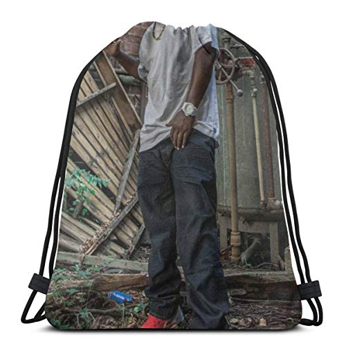 MaryWilson Rucksack Mit Kordelzug Three-Six Mafia- Unisex Leicht Trend Rucksack Mit Kordelzug PE Kit Bag Für Fahrrad Im Freien
